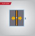 Isolated elevator flat icon lobby element vector image