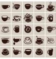 Cup set vector image vector image