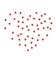 Geometric shape from triangles Heart network vector image
