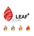 Set of abstract eco leaf icons business logotype vector image vector image