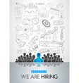 We Are Hiring background for your hiring posters vector image vector image