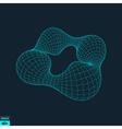 Lattice Geometric Polygonal Element Grid vector image