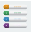 Four bookmarks vector image
