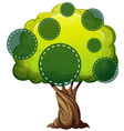 Green tree with green circles vector image vector image