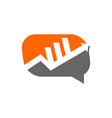 Graph finance business logo vector image
