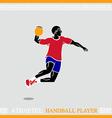 Athlete Handball player vector image