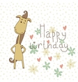 Birthday card with a cute horse vector image