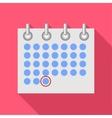 Calendar icon flat style vector image