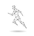 Geometric sport man design silhouette vector image