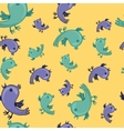hattern with colorful birds are singing vector image