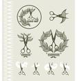 Set of vintage labels for hairdresser and barber vector image