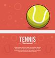 tennis sportball tournament image vector image