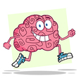 Running Brain vector image