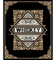 Old label design for Whiskey and Wine label vector image vector image