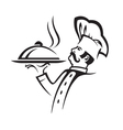 whiskered chef vector image vector image