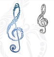 Musical Note Ornament vector image