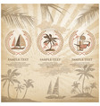 set of travel symbols vintage vector image vector image