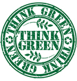 Grunge think green rubber stamp vector image