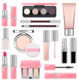 makeup icons set 4 vector image