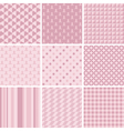 Pink baby patterns vector image