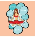 girl in the lotus asana vector image vector image
