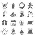 Christmas Holiday Icons vector image