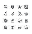 Fruit and desert icons vector image