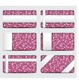 pink sequin gift cards Eps 10 vector image