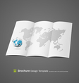 Brochure design with globe and world map vector image vector image