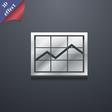 Chart icon symbol 3D style Trendy modern design vector image