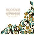 hand-drawn decorative floral element for design vector image