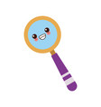 kawaii school magnifier search discovery science vector image