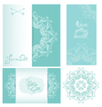 Set of Wedding invitation cards with floral elemen vector image