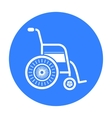 Wheelchair icon black Single medicine icon from vector image