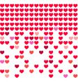 heart mosaic background vector image