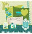 Scrapbook Design Elements - Blue Flowers vector image vector image