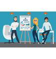 Business professional work team Businesspeople vector image