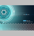 background with futuristic elements 2 vector image