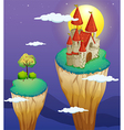 A castle at the topmost part of a landform vector image vector image
