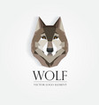 3d origami low polygon wolf vector image