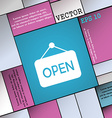 open icon sign Modern flat style for your design vector image