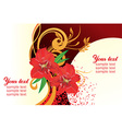 Red Lily Design with Text Space vector image
