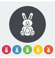 Rabbit toy flat icon vector image