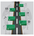 Road And Street Traffic Sign Business Travel vector image