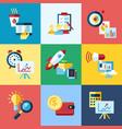 digital blue red startup vector image