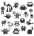 Funny Monsters Silhouette vector image