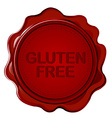 GLUTEN FREE wax seal vector image