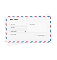 Mail form envelope vector image