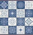 moroccan tiles vector image