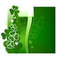 St Patricks Day green beer vector image